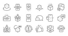 Augmented Reality Line Icons. ...