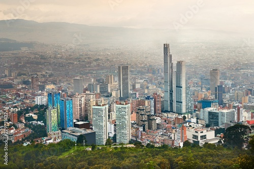Bogota, Colombia cloudy day Wallpaper Mural