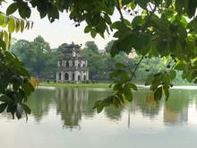 Close Up Hoan Kiem Lake And Tu...