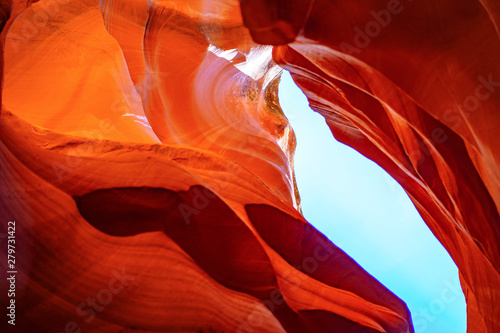Foto auf AluDibond Rot Antelope Canyon, Page, Arizona