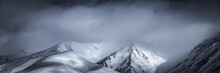 Snow Covered Mountains Landscape, New Zealand