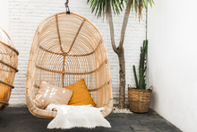 Wicker Rattan Hanging Chair In...