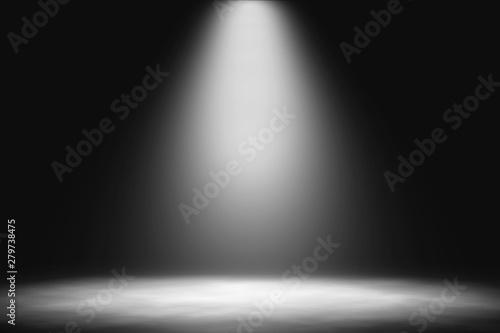 Fototapeta White spotlight on stage entertainment background. obraz na płótnie