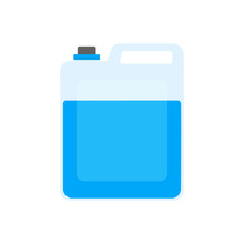 Plastic Canister With Blue Sub...