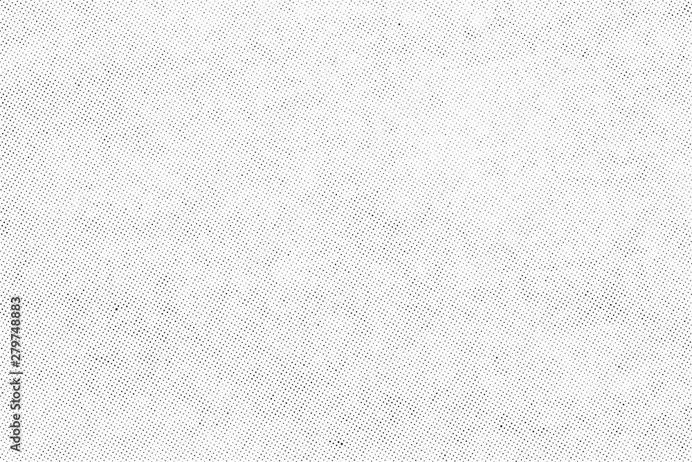 Fototapety, obrazy: Subtle halftone vector texture overlay. Monochrome abstract splattered background.