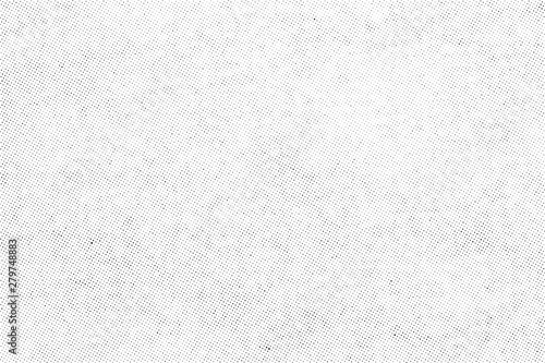 Obraz Subtle halftone vector texture overlay. Monochrome abstract splattered background. - fototapety do salonu