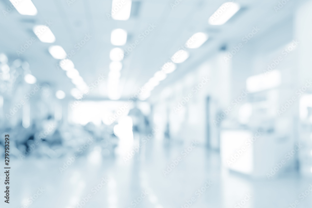 Fototapety, obrazy: Blurred interior of hospital - abstract medical background.