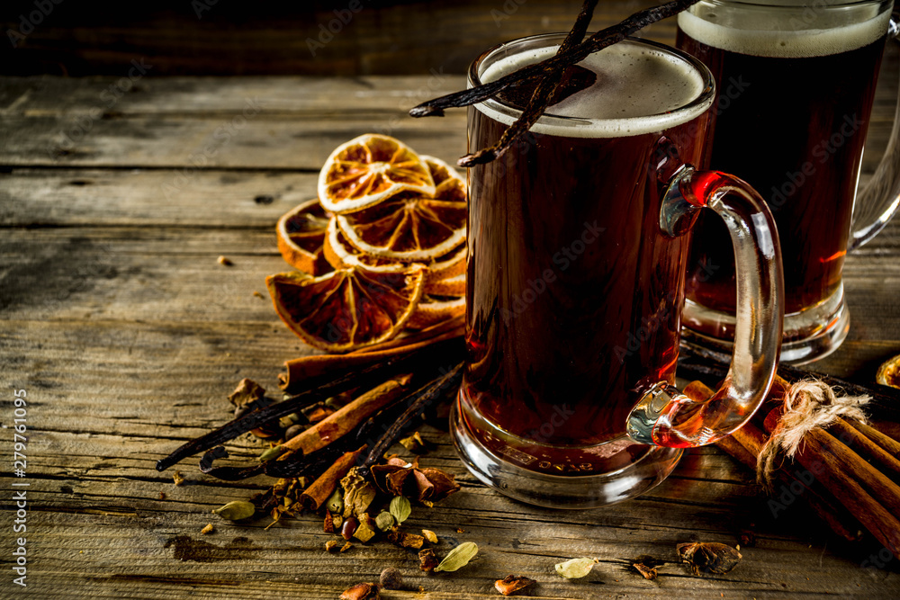 Fototapety, obrazy: Hot Mulled Beer with spices