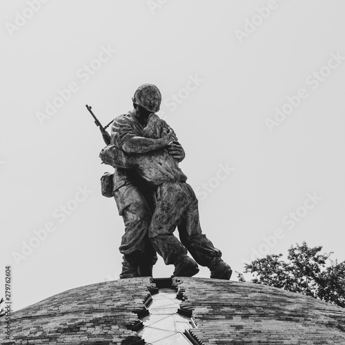 View on Statue of Brothers inside War Memorial of Korea and peaceful reunification Wallpaper Mural