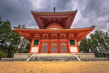 Koyasan - June 04, 2019: Dai Garan Buddhist Temple In Koyasan, Japan