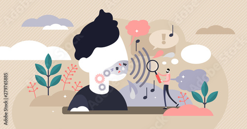 Phonetics vector illustration Wallpaper Mural