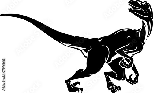 Raptor Dinosaur Full Body Wallpaper Mural