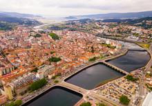 Aerial View On The City Pontevedra. Spain