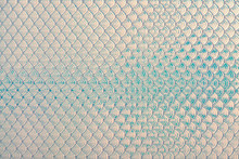 Holographic Mermaid Fish Scales Iridescent Faux Leather Texture Background.