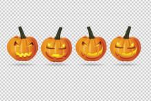 Pumpkin Ghost On Transparent Background