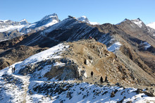 Swiss Alps: Hiking On Gornergrad Above Zermatt In Canton Wallis