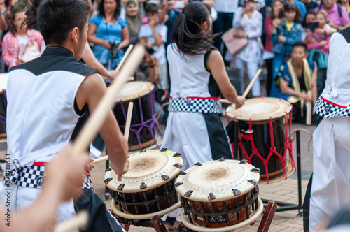 Japanese Drum during a summer festival - 279781633