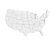 United States Of America Map 3...