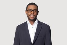 Smiling Black Man In Suit Posi...