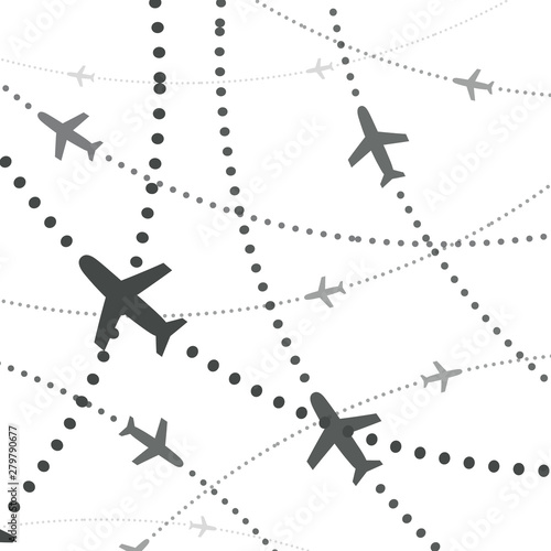 Photo Airplanes pattern