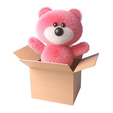 Teddy Bear With Soft Pink Fur ...