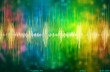 Leinwandbild Motiv  voice recognition waveform and spectrum