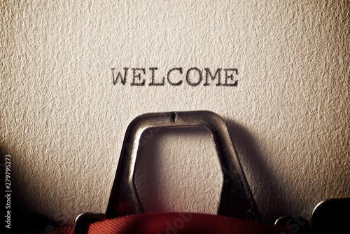 Fotografie, Obraz  Welcome concept view