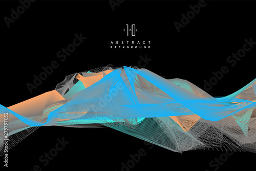 Fotografia Wavy abstract graphic design, vector background.