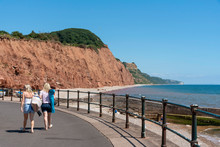 Sidmouth, Devon, England, UK. ...