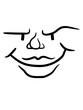 canvas print picture - cooles gesicht frech gemein böse lustig grinsen spaß augen mund kopf comic cartoon desig clipart lächeln