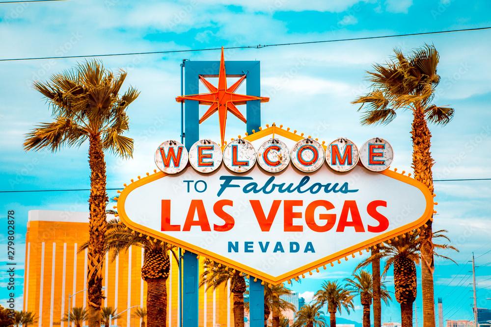 Fotografía Welcome to Fabulous Las Vegas sign, Las Vegas Strip, Nevada, USA