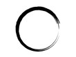 Grunge black circle made with art brush.Grunge oval shape made for your project.