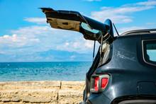 Black Summer Car On The Sunny ...