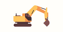 Heavy Excavator Yellow Loader ...