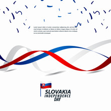 Slovakia Independence Day Celebration Vector Template Design Illustration