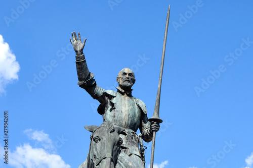 Don Quixote statue at daylight Wallpaper Mural