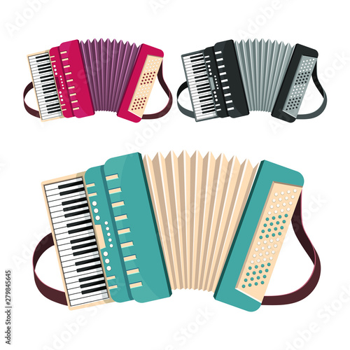 Accordion vector design illustration isolated on white background Wallpaper Mural