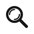 Search icon. Magnifying glass icon, vector magnifier or loupe sign.