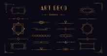 Art Deco Divider Header Set. G...