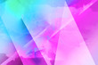 canvas print picture - Bright abstract triangles blue background.