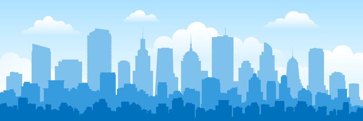 urban panorama cityscape sk...