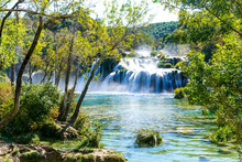 Beautiful View Of Krka Waterfalls
