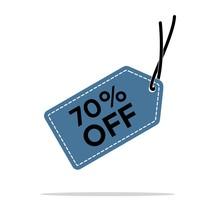 70% Discount Hang Tag Vector Template. Flat Design Vector EPS 10.