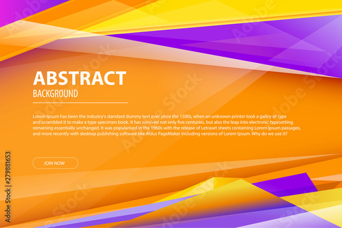 Abstract Background Geometric Modern Business Design Company Leaflet Flyer Cover Template Abstract Diagonal Background Violet Yellow And Orange Lines Vector Illustration Eps 10 Art Buy This Stock Vector And Explore Similar