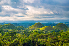 Chocolate Hills In Late Aftern...