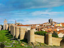 Spain, Castile And Leon, Avila. Fortified Walls Around The Old City, Listed As World Heritage By UNESCO, The Ramparts Dated 12th Century