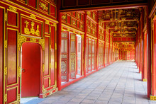 Galleries Of Can Chanh Palace In The Halls Of The Mandarins, Imperial City, Hu???, Th???a Thi?n-Hu??? Province, Vietnam