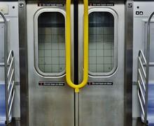 New York City MTA Subway Car Interior Door And Seats