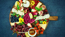 Cheese And Fruit Charcuterie D...