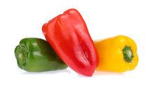 Three Bell Peppers Isolated On...